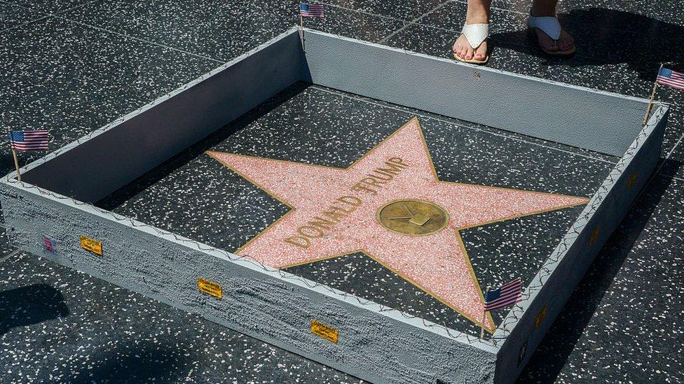 Estrella de Donald Trump en el Paseo de la Fama de Hollywood.
