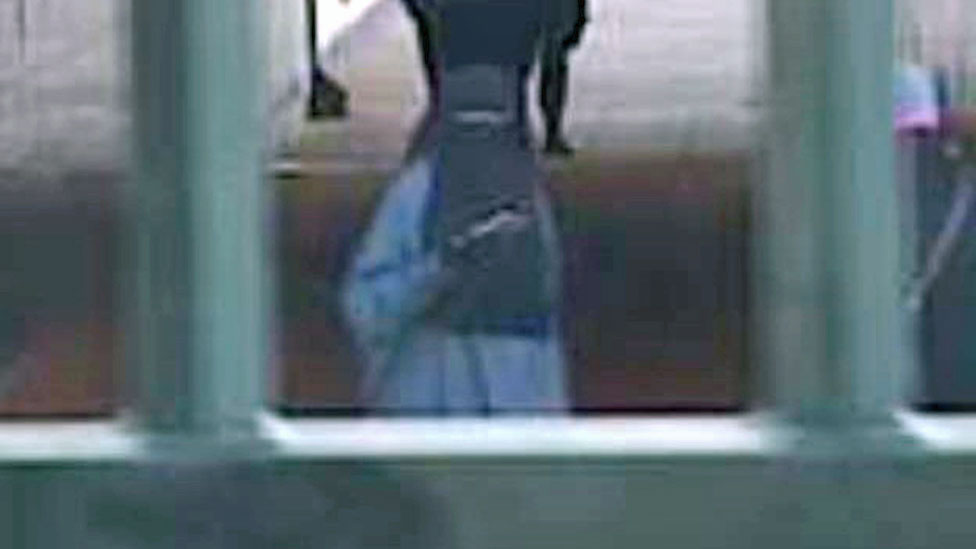 CCTV still of Safaa Boular outside MI6 in London