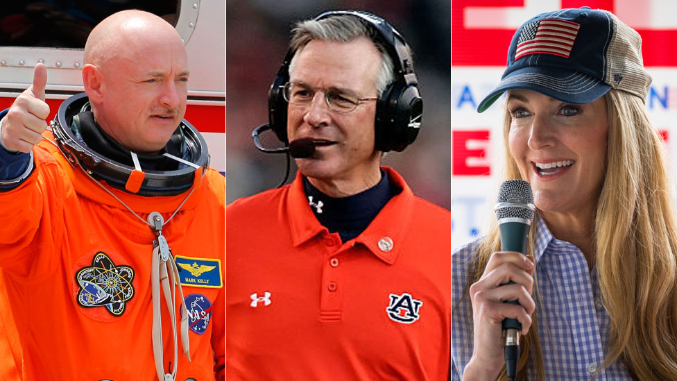 Mark Kelly, Tommy Tuberville and Kelly Loeffler