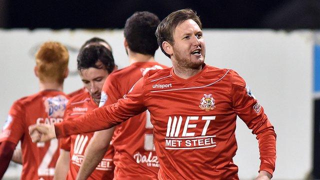 Portadown goal scorer Gary Twigg