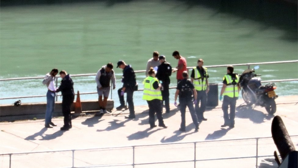 Migrants at Dover port