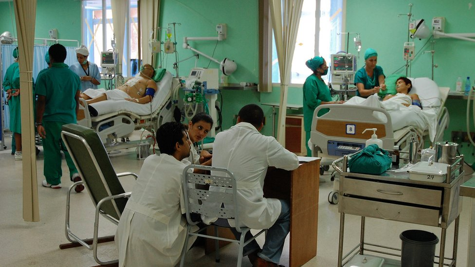 Hospital interior, Havana, Cuba
