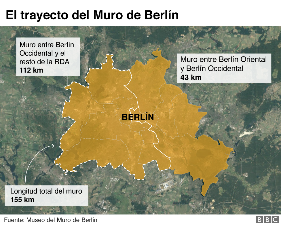 Mapa Muro de Berlín