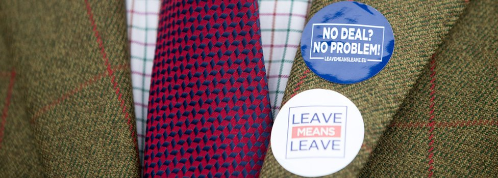 Leave means leave badges on a jacket