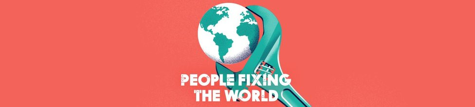 A People Fixing the World graphic