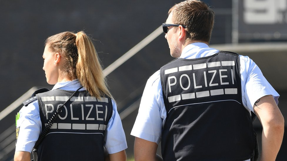 German police stop 'truant' families at airport
