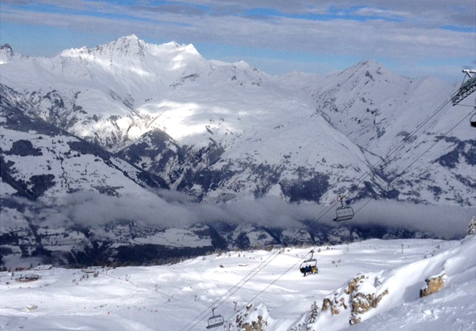 French Alps near Mont Blanc