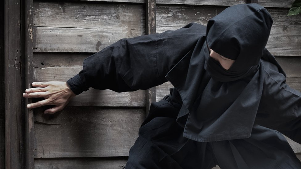 The thief was wearing all black like a ninja (file photo)