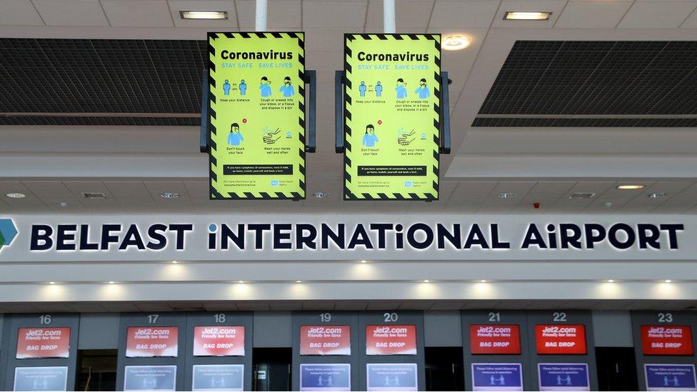 Departures hall at Belfast International Airport