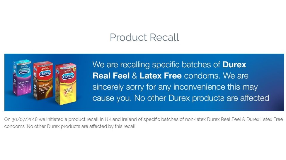 Product recall notice