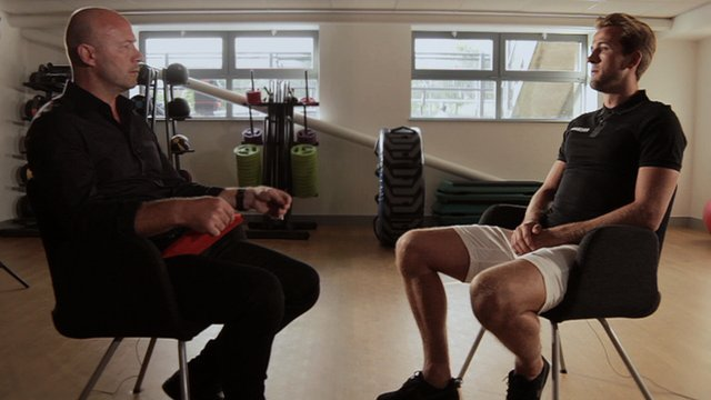 BBC Sport's Alan Shearer meets Harry Kane