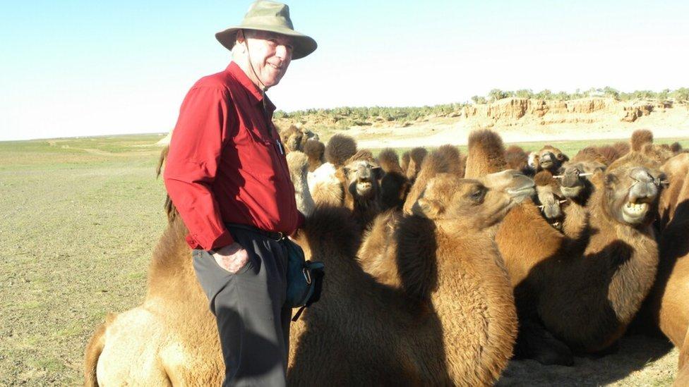 TCC member Terry Wharton in the Gobi Desert, Mongolia