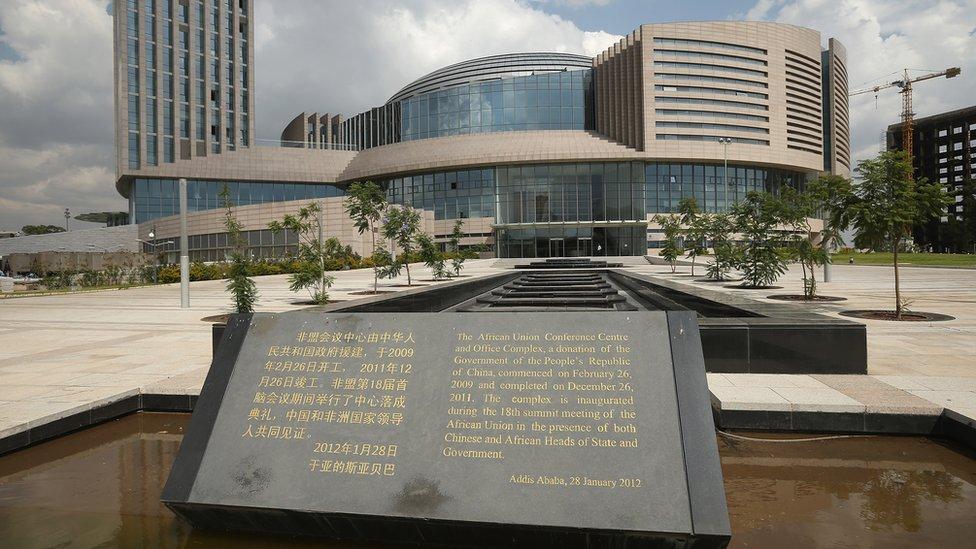 Oficinas centrales de la Unión Africana, en Etiopía