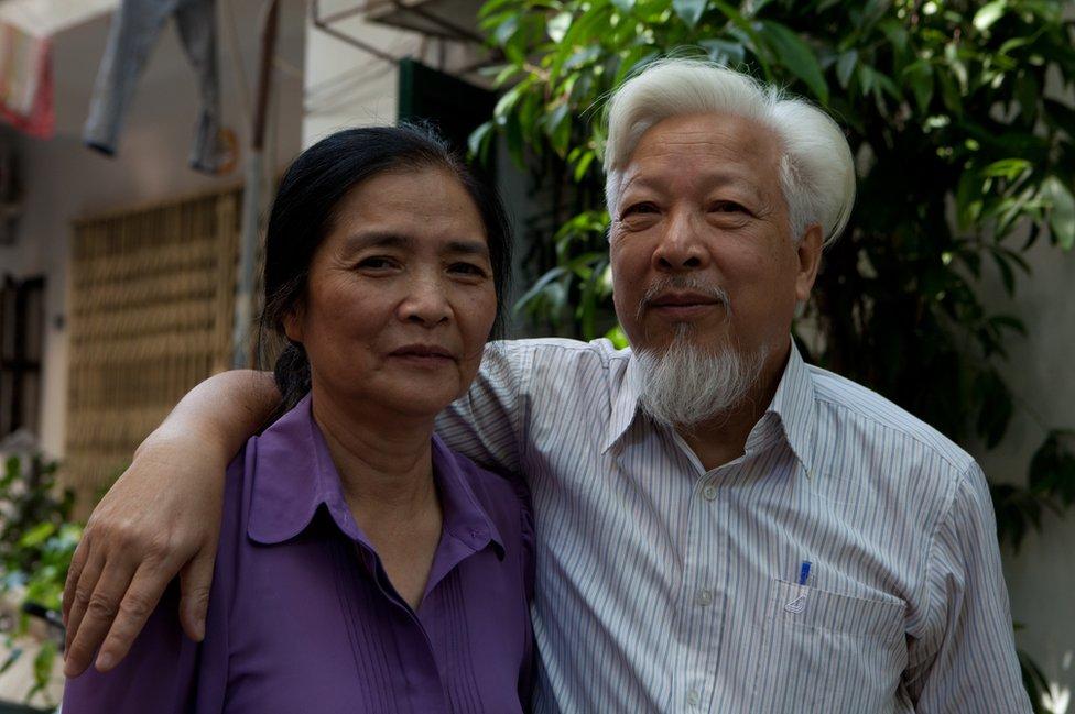 Nguyen Thi Van, seen here with husband Pham