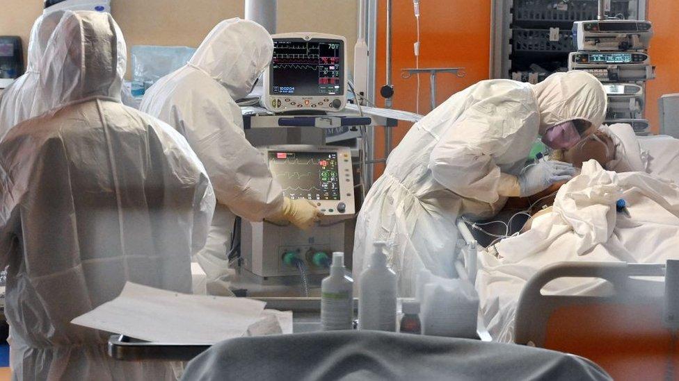 Paciente con coronavirus en Italia
