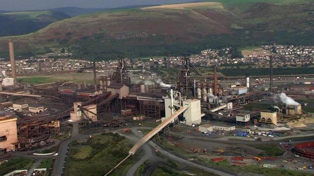 The Tata Steel site in Llanwern