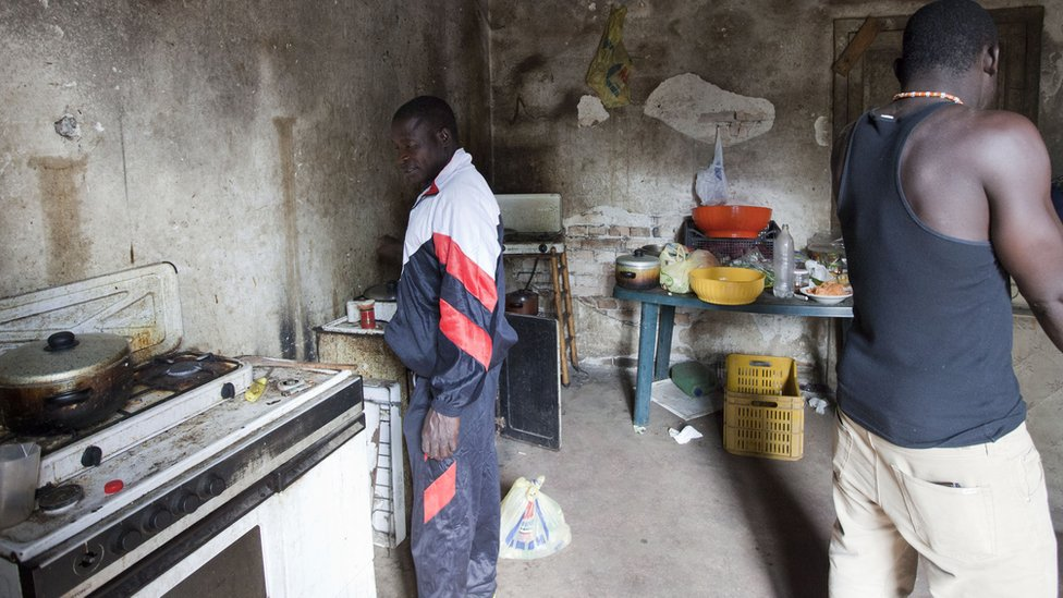 African migrants living in poverty in Calabria, 24 Jan 17