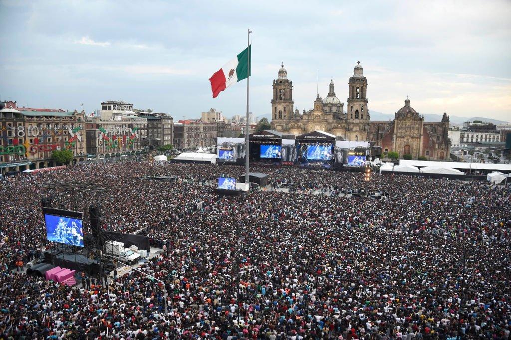 Un concierto en el Zócalo
