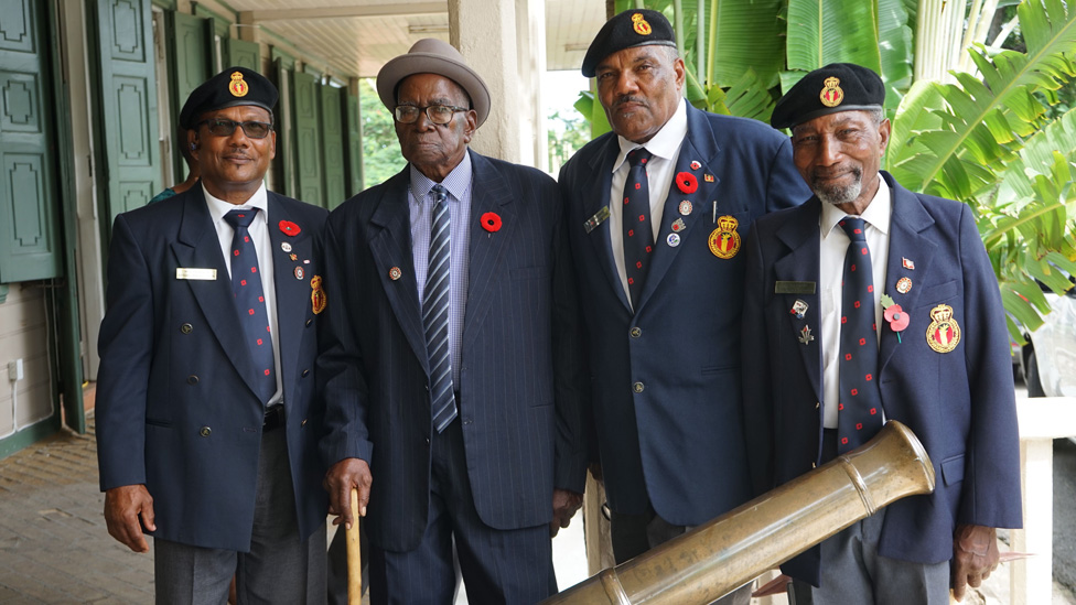 From left to right: Pagget Messiah, Maurice Appleton, Johnson Browne and Keith Eastmond pose for a photo