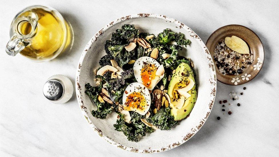 Plato con huevo