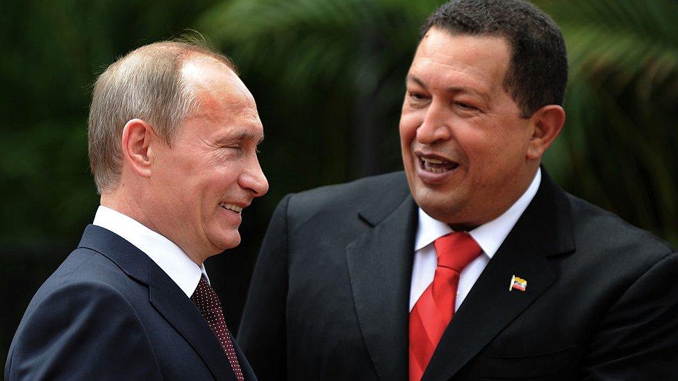 Chávez y Putin.