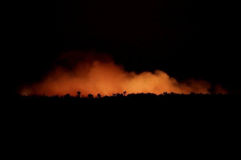Amazon Ormanları'ndaki bir yangın