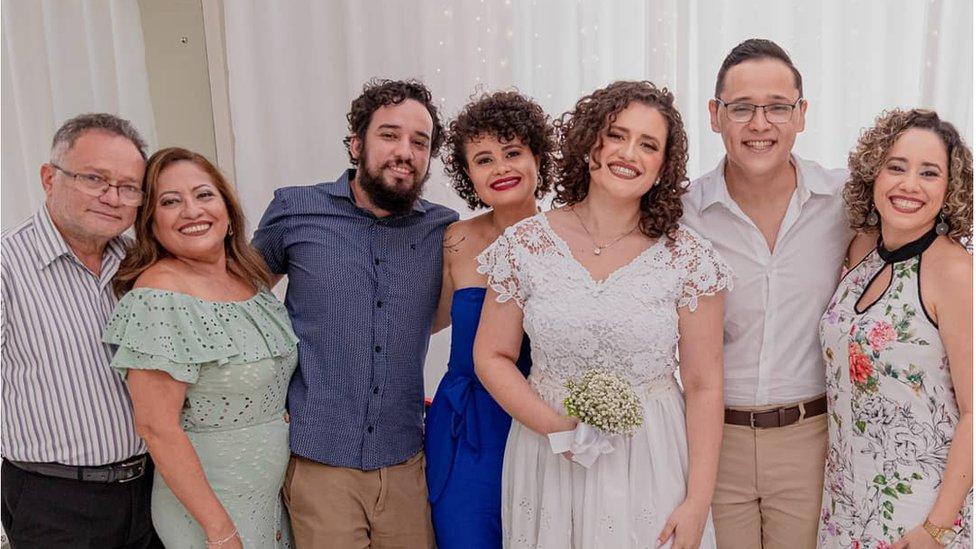 Nilton Barreto dos Santos e sua família