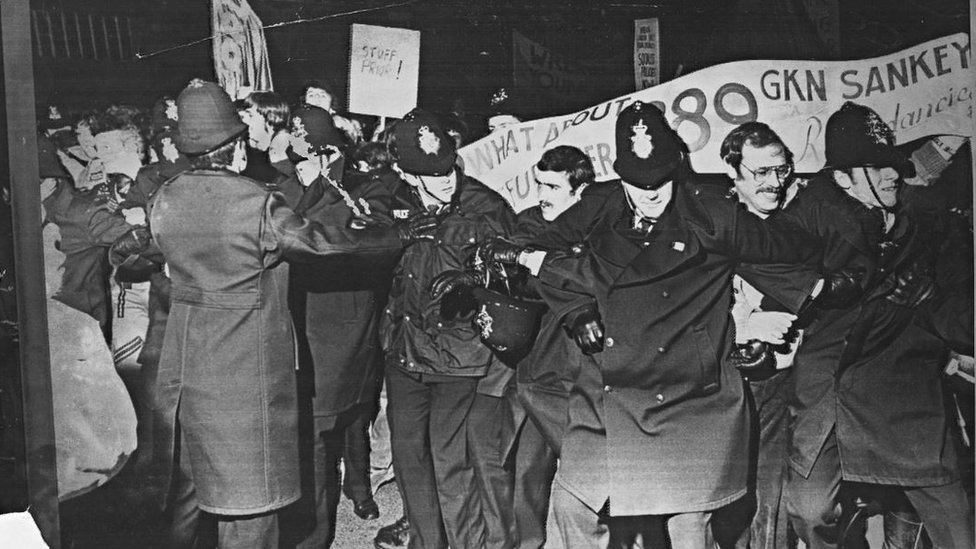Demonstrators at GKN Sankey, Telford