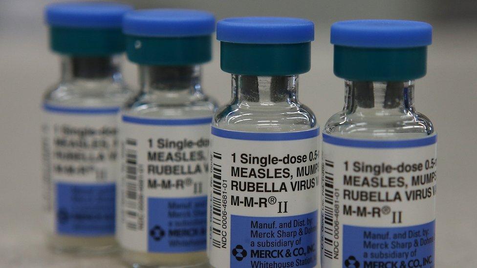 زجاجات اللقاح المضاد للحصبة