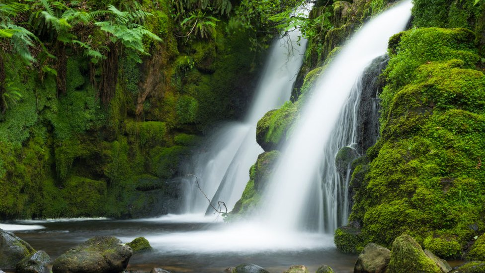 Venford Brook Falls in Dartmoor National Park
