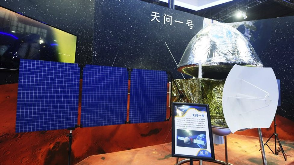 Model prob Tianwen-1 dalam 2020 China International Industry Fair.