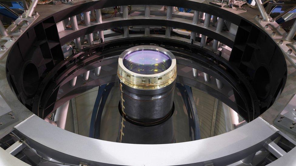 Lente de un telescopio