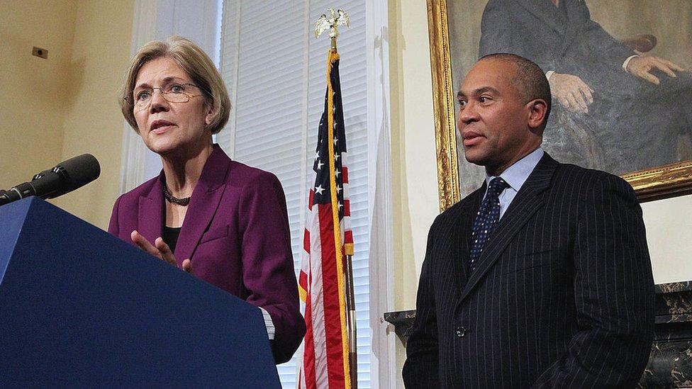 Elizabeth Warren and Deval Patrick