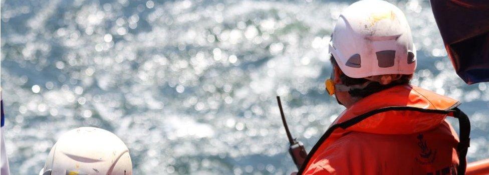Maritime rescue teams off Morocco