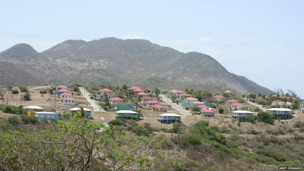 View of new government housing in Lookout