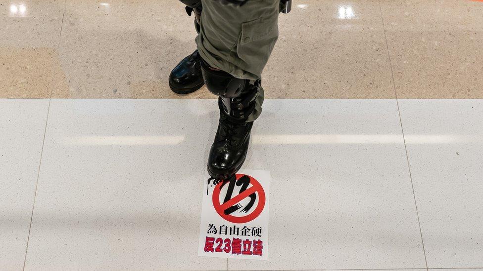 近日的香港示威中,反對23條仍然是示威者會表達的訴求。