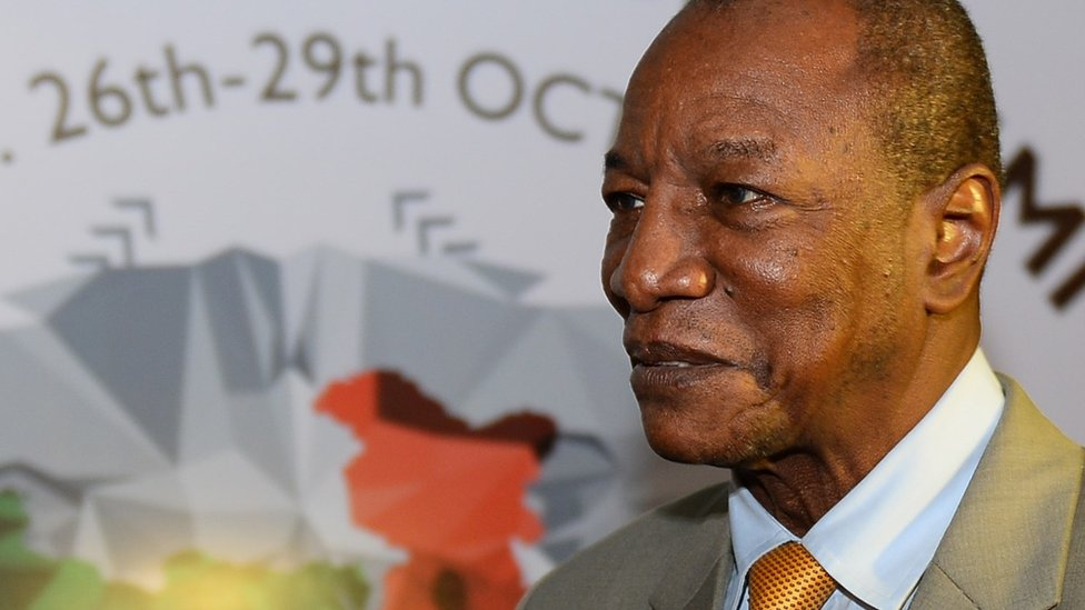 Guinea's President Alpha Conde