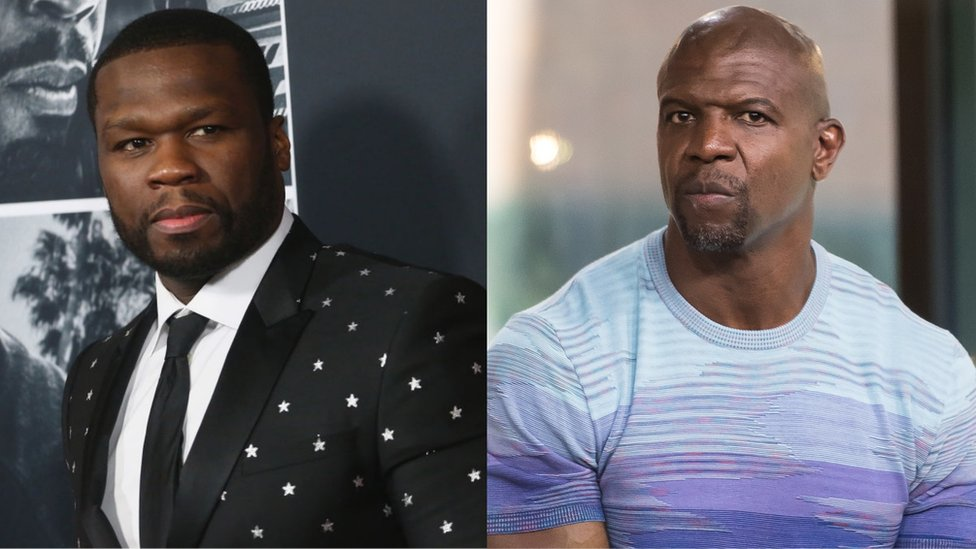 BBC News - 50 Cent mocks Terry Crews over sexual assault claims