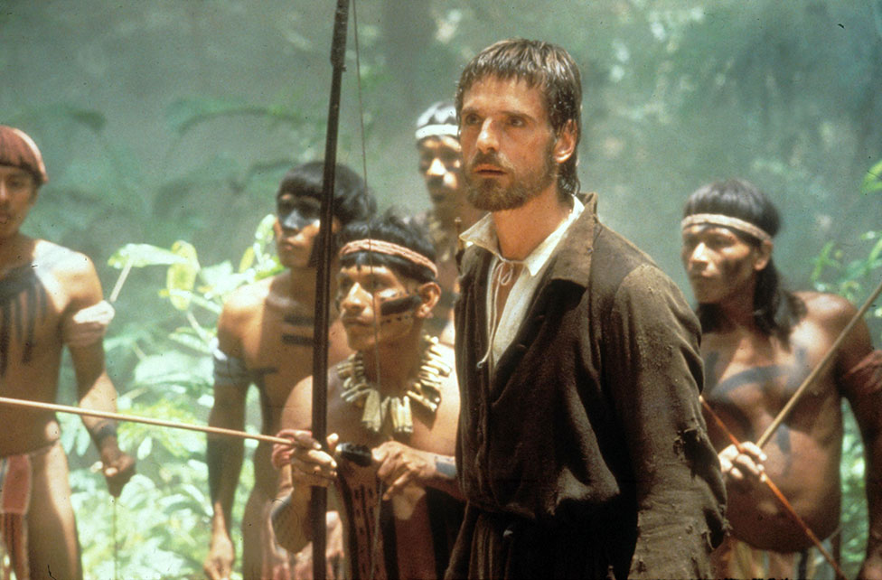 A still from the film The Mission
