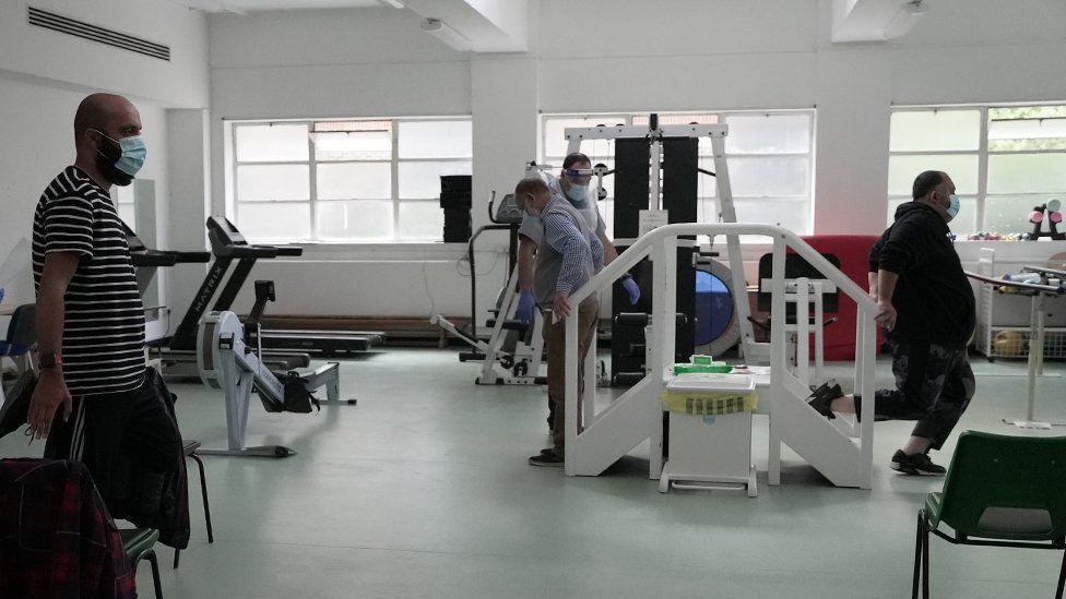 Sala de ejercicio del hospital de Croydon