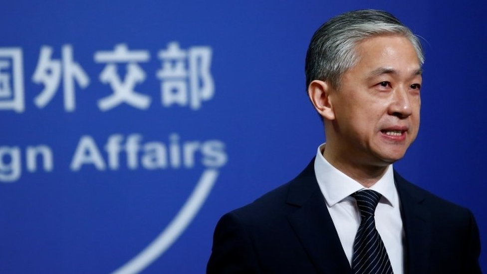 New spokesman for Chinese Foreign Ministry Wang Wenbin speaks during a news conference in Beijing, China July 17, 2020.