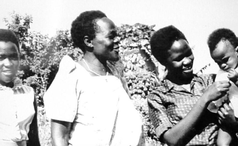 Betty Bigombe (right) with her mother and sister