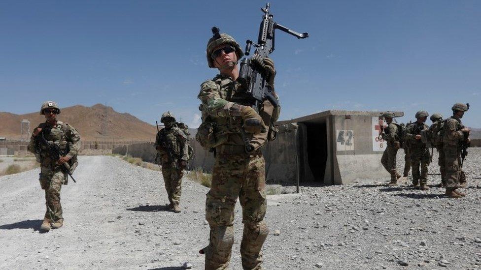US troops in Logar province, Afghanistan, July 2018