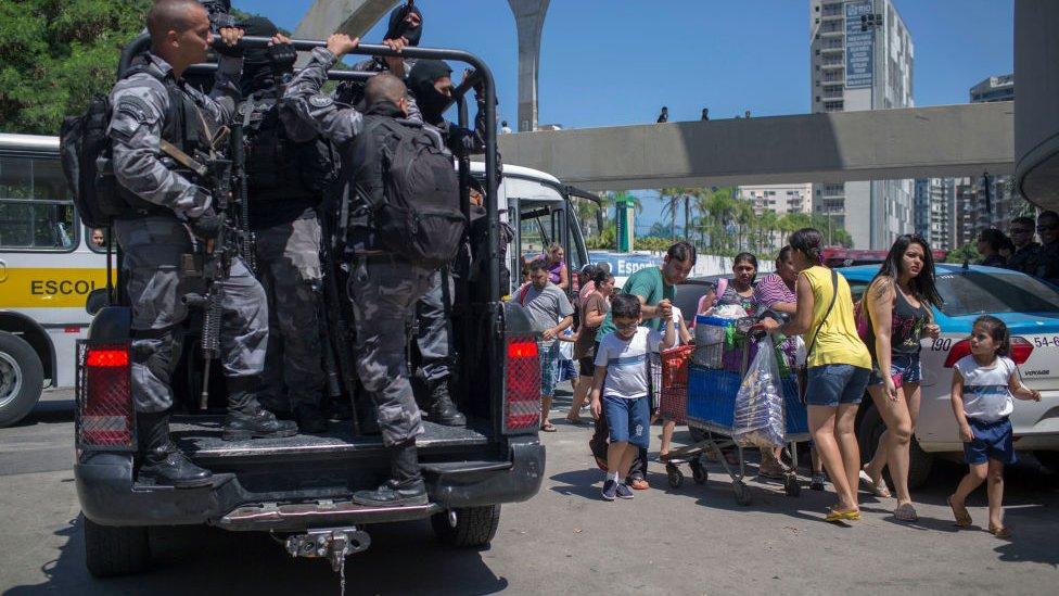 Operativo policial en Rocinha
