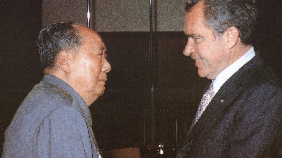 毛澤東與尼克松