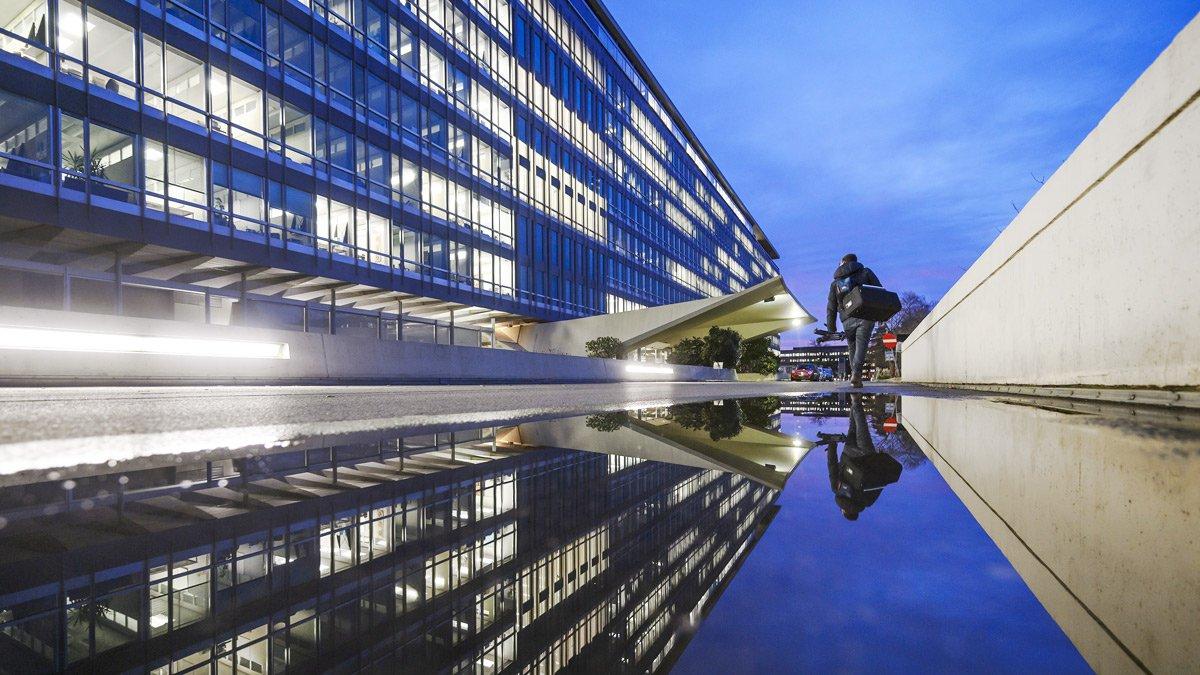 La sede de la Organización Mundial de la Saludo, Ginebra, Suiza