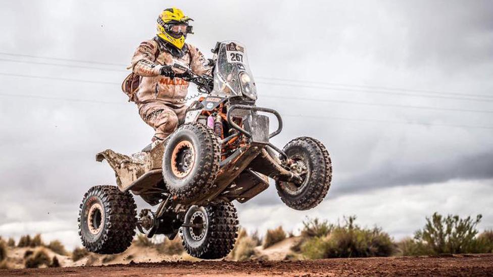 Kees Koolen taking part in the Dakar Rally