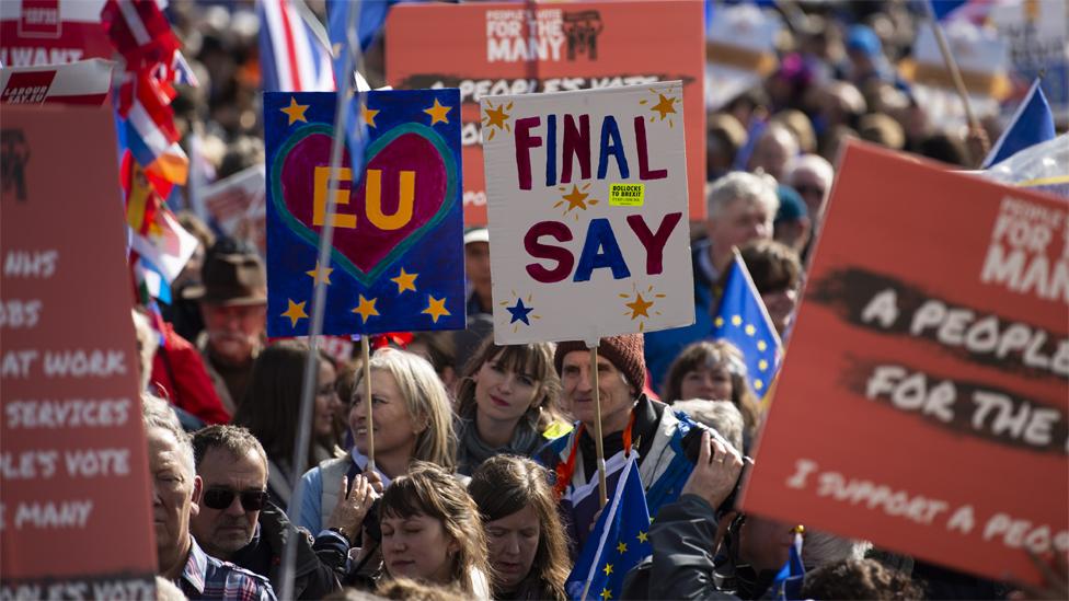مظاهرة مضادة للخروج من الاتحاد الأوروبي