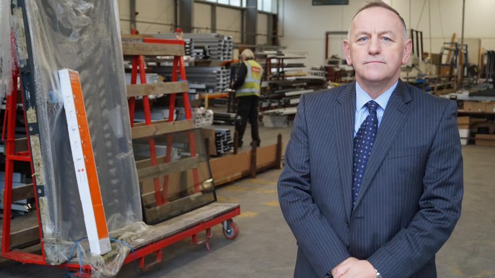 Alan Brayley in his factory