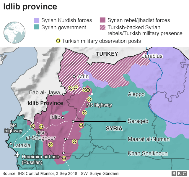 Map of territorial control in Idlib